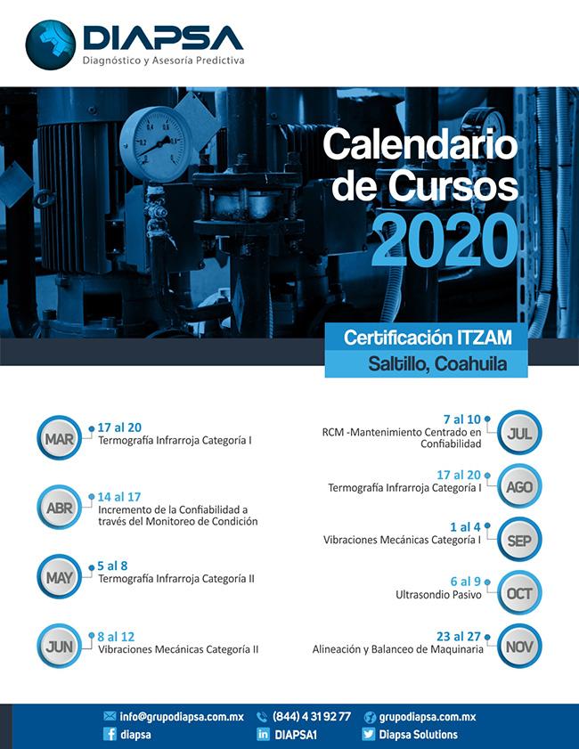 Calendario de Cursos DIAPSA 2020